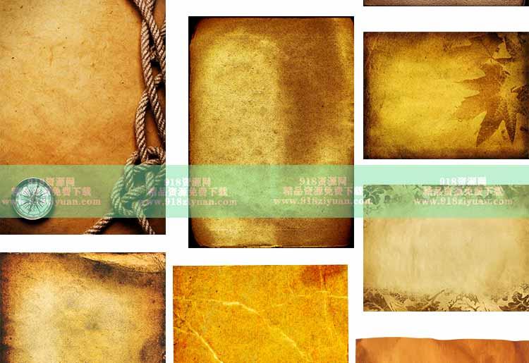 79款复古宣纸素材破旧痕迹皱褶老旧牛皮纸张纹理材质贴图高清JPG背景图片素材 其他平面素材 第4张