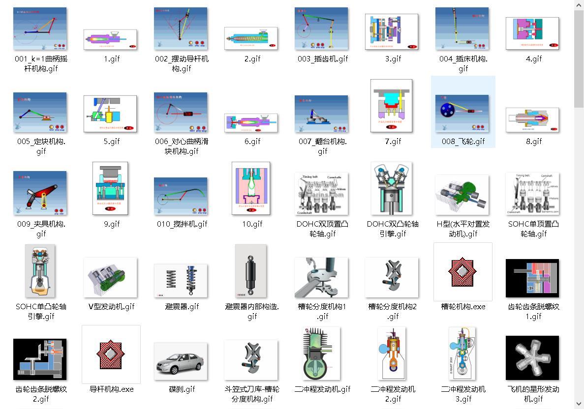工程师:5000个机械原理动图工业设计动态3D模型原理结构
