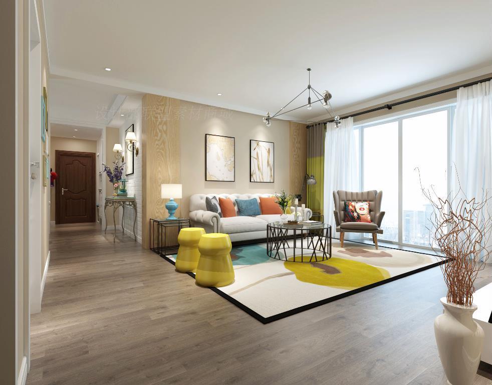 装修设计效果图纸家装实景三居室房屋室内二居室客厅全套全屋 装修效果图 第10张